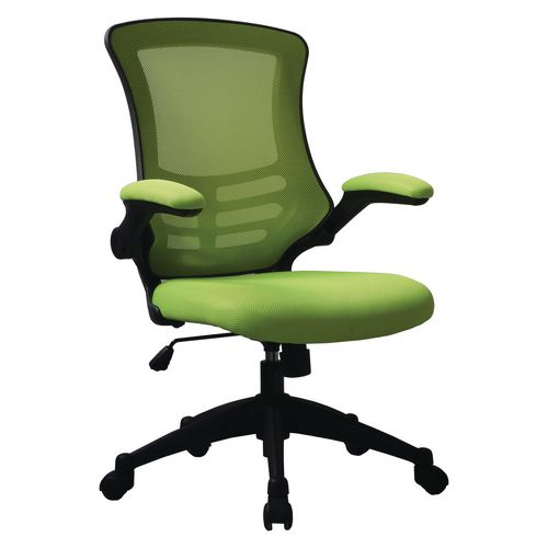 Green Luna Mesh Chair With Foldaway Arms