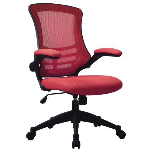 Red Luna Mesh Chair With Foldaway Arms