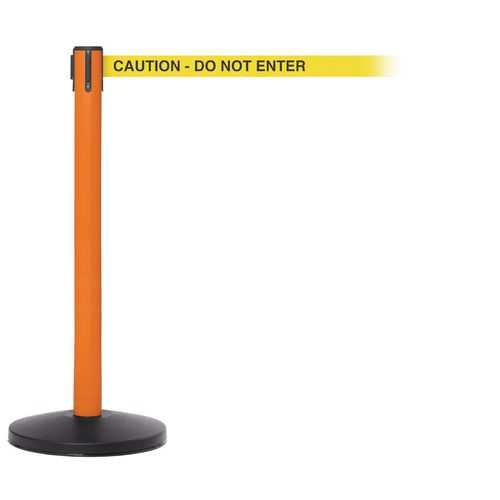 Safetymaster 450 Orange Post 3.4M Caution  Do Not Enter Yellow Webbing With Black Print Pac