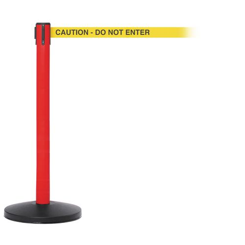 Safetymaster 450 Red Post 3.4M Caution  Do Not Enter Yellow Webbing With Black Print Pac