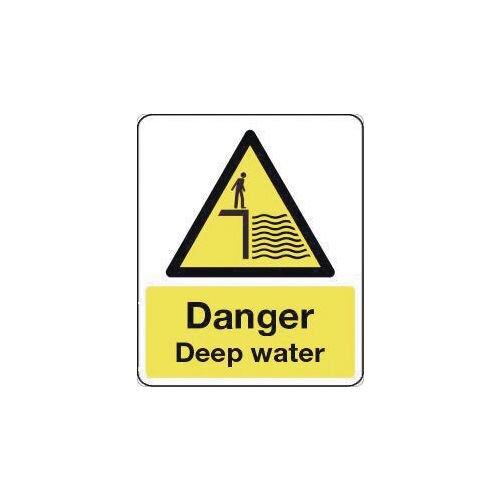 Sign Danger Deep Water 600X200 Vinyl National Water Safety Sign