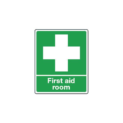 Sign First Aid Room Self-Adhesive Vinyl 75x100
