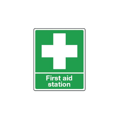 Sign First Aid Station Self-Adhesive Vinyl 75x100