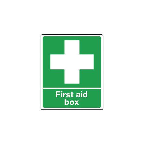 Sign First Aid Box Self-Adhesive Vinyl 75x100
