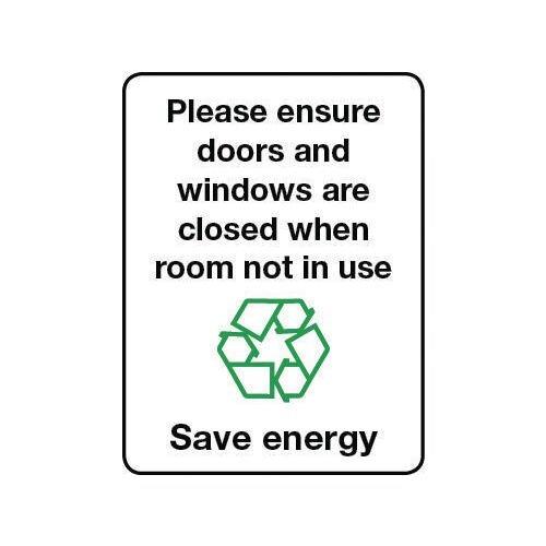 Sign Please Ensure Doors Self-Adhesive Vinyl 75x100