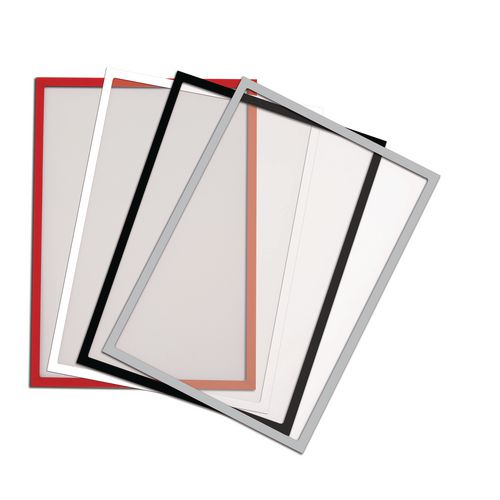 A4 Magnetic Clear Pockets Pack Of 5 Red
