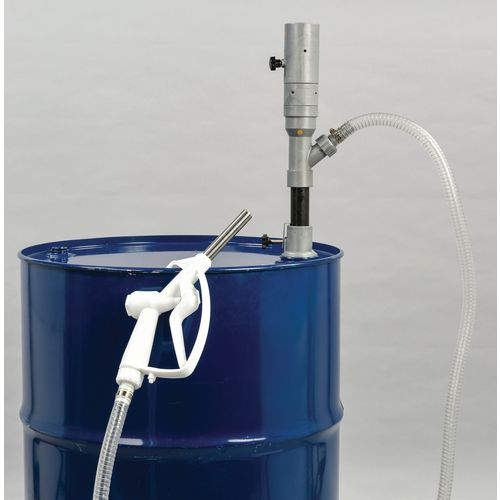 1:1 Pneumatic Barrel Pump 30 Litres/Min. C/W Hose &Spout Pump Fitted with 2M Reinforced Nylon Hose &Polypropylene Trigger