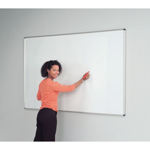 Shield Design Magnetic Whiteboard 1200X1200 Aluminium Frame