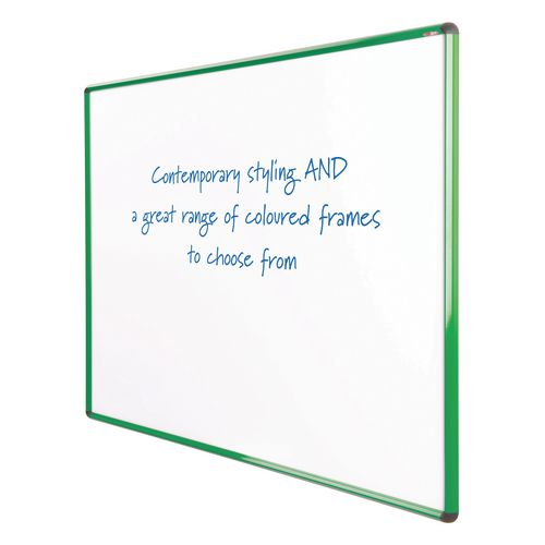 Shield Design Magnetic Whiteboard 1200X1200 Green Frame