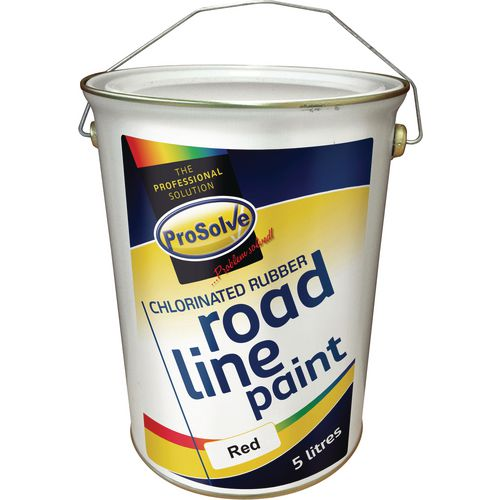 Prosolve Chlorinated Rubber Road Line Paint 5 Ltr Red