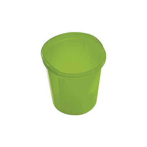 13 Litre Plastic Wastebasket In Green