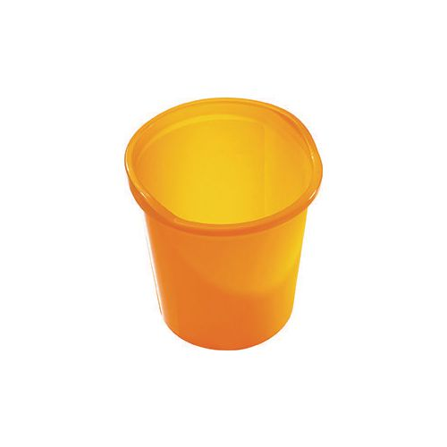 13 Litre Plastic Wastebasket In Yellow