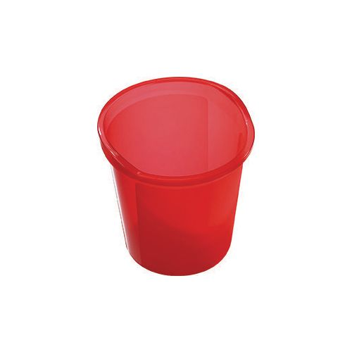13 Litre Plastic Wastebasket In Red