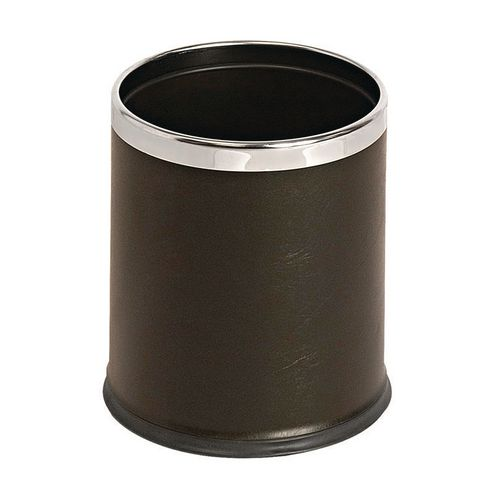 10 Litre Metal Waste Paper Bin Matt Blackfinish