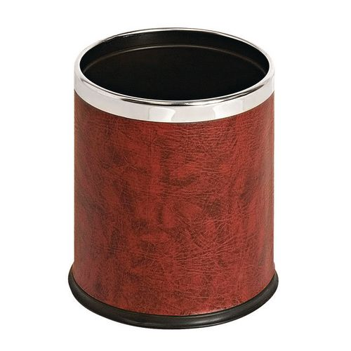 10 Litre Metal Waste Paper Bin Matt Red Finish