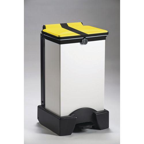 65 Litre All Plastic Removable Body Fire Retardant Sack Holder With Tiger Stripe Lid