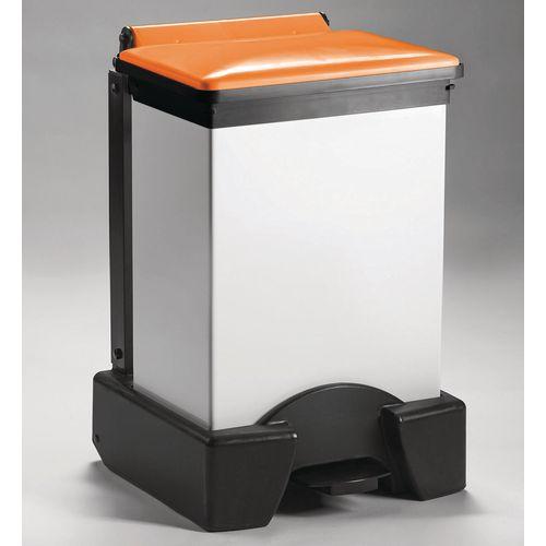 45 Litre All Plastic Removable Body Fire Retardant Sack Holder Orange Lid