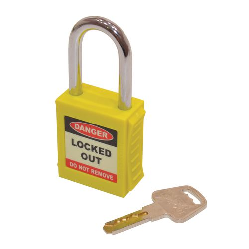 Safety Lockout Padlocks  Yellow (Each)