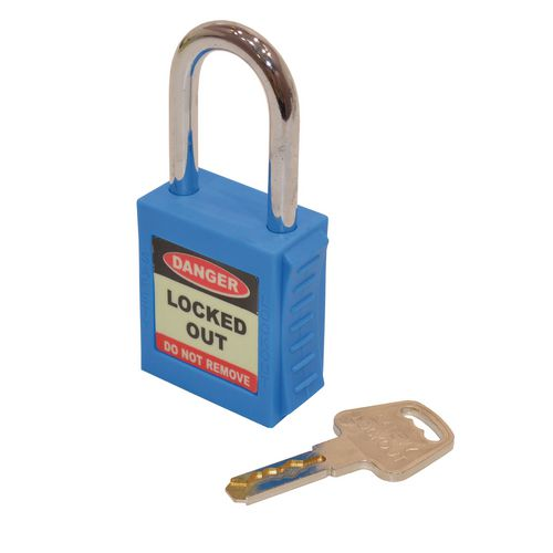 Safety Lockout Padlock  Blue (Each)