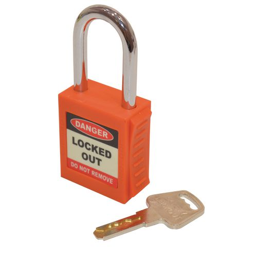 Safety Lockout Padlock  Orange (Each)