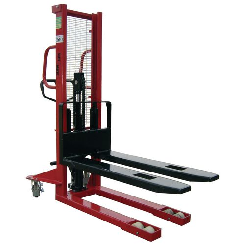 1000Kg Manual Pallet Stacker 1600mm Height Lift With Fixed Forks