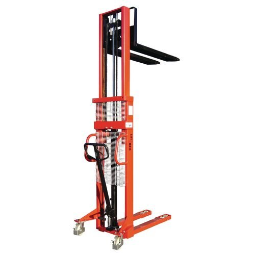 1000Kg Manual Pallet Stacker 2000mm Height Lift With Fixed Forks