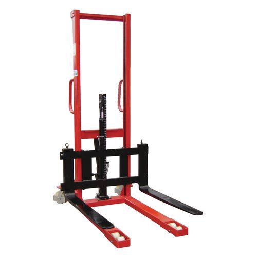 1000Kg Manual Pallet Stacker 1600mm Height Lift With Adjustable Forks