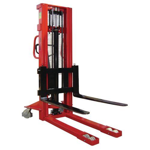 1000Kg Manual Pallet Stacker 2500mm Height Lift With Adjustable Forks