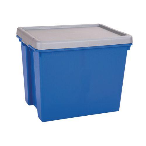 Wham Bam 24L Heavy Duty Box &Lid Blue/Silver
