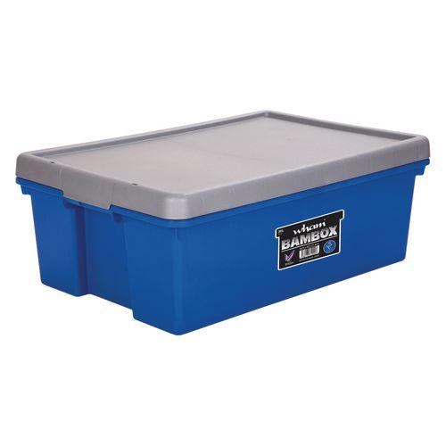 Wham Bam 36L Heavy Duty Box &Lid Blue/Silver