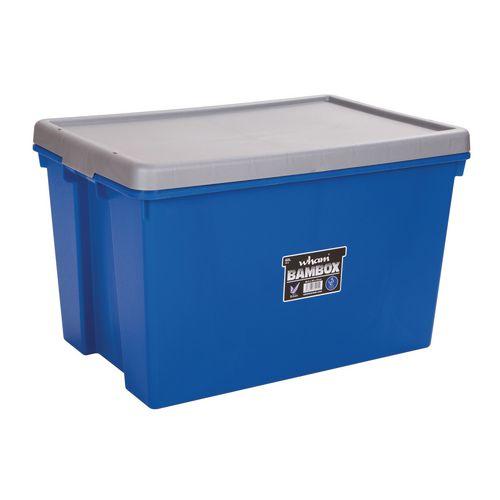 Wham Bam 62L Heavy Duty Box &Lid Blue /Silver