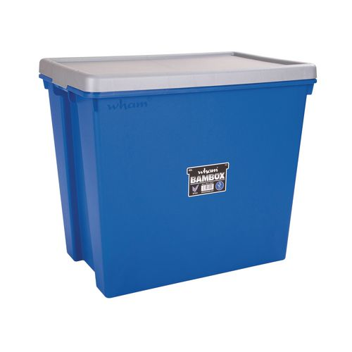Wham Bam 92L Heavy Duty Box &Lid Blue/Silver