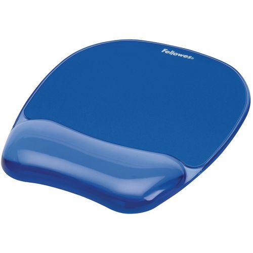 Crystal Gel Mouse Pad/Wrist Rest Blue