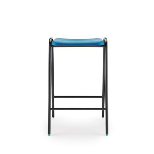 Hille Flat Top Stool 610mm Seat Height Blue Pack Of 4