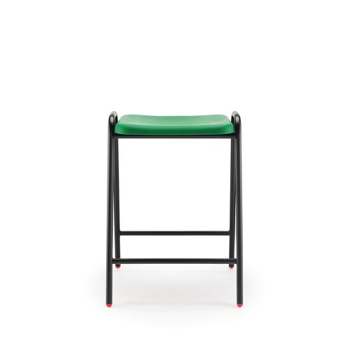 Hille Flat Top Stool 525mm Seat Height Green Pack Of 4
