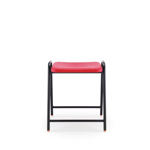 Hille Flat Top Stool 430mm Seat Height Red Pack Of 4