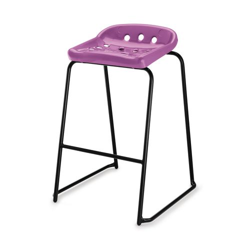 Hille Pepperpot Stool 430mm Seat Height Purple Pack Of 4