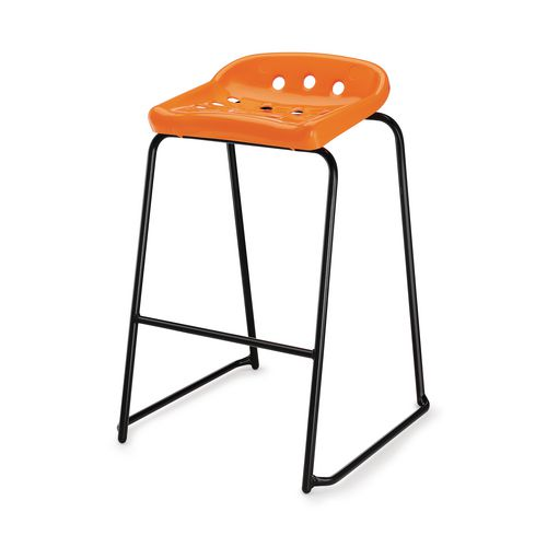 Hille Pepperpot Stool 430mm Seat Height Orange Pack Of 4