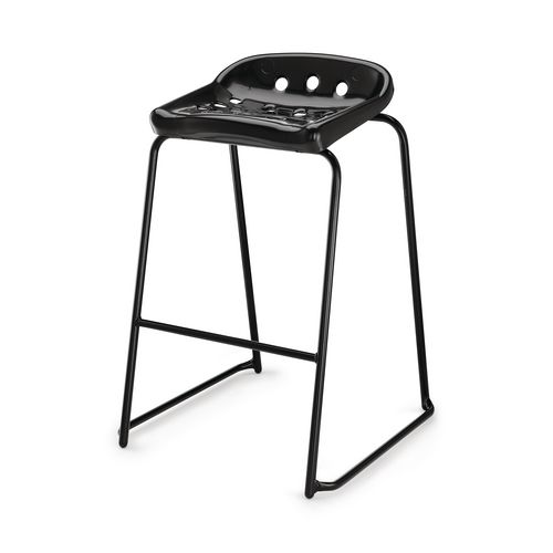Hille Pepperpot Stool 430mm Seat Height Black Pack Of 4