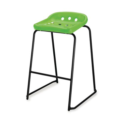 Hille Pepperpot Stool 430mm Seat Height Green Pack Of 4