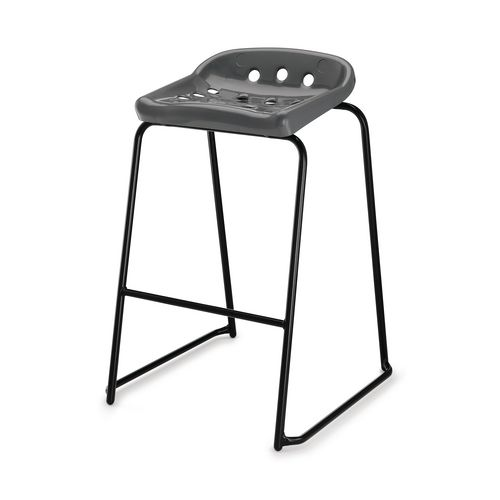 Hille Pepperpot Stool 430mm Seat Height Grey Pack Of 4