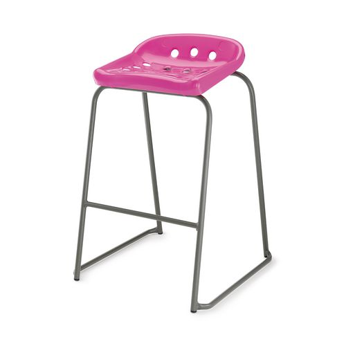 Hille Pepperpot Stool 430mm Seat Height Pink Pack Of 4