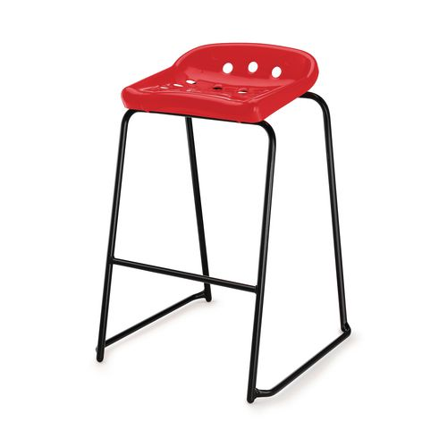 Hille Pepperpot Stool 430mm Seat Height Red Pack Of 4