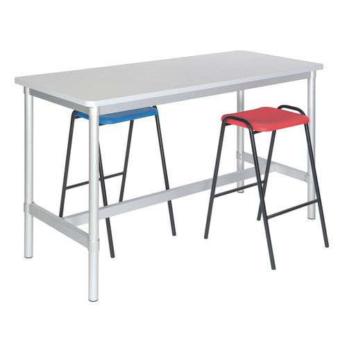 Enviro Project Table 900mm High Beech Top/Light Grey Edge