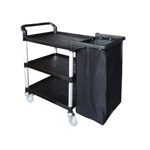 Three Tier Plastic Tray Trolley Open With Frame &Nylon Bag