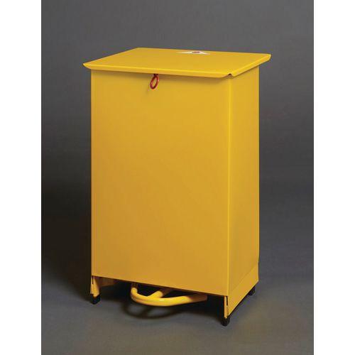 50 Litre Metal Fixed Body Fire Retardant Sack Holder In Yellow