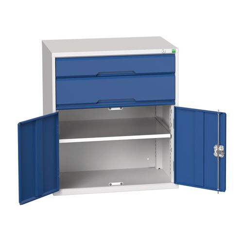 Medium Duty Drawer Cabinets 1x125mm 1x175mm Drawers And 1x525mm Cupboard