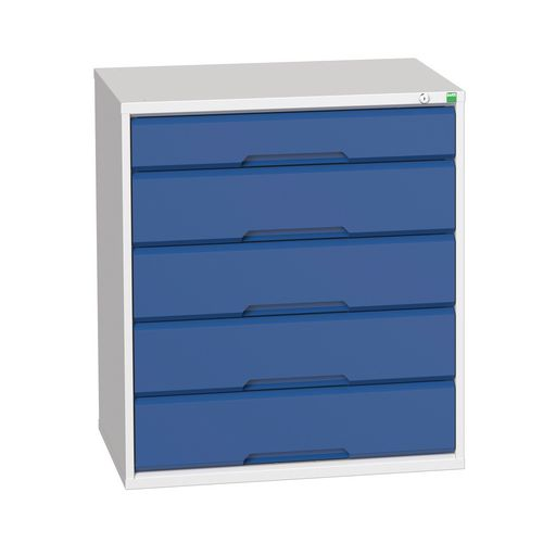 Medium Duty Drawer Cabinets 1x125mm And 4x175mm Drawers H x W x D mm: 900 x 800 x 550