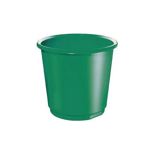 18 Litre Green Plastic Wastebaskets X 4