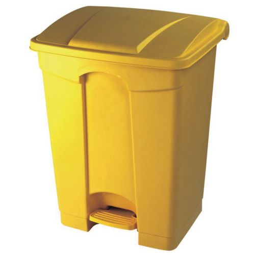68 Litre Step Yellow Plastic Pedal Bin